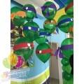Оформление шарами в стиле Черепашки Ниндзя