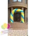Арка из шаров четырехцветная