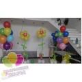 Цветы из воздушных шаров с гелием