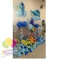 Оформление шарами в морском стиле