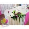 Оформление свадьбы в бело-розовом