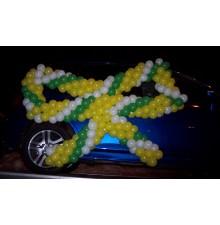 Бант из шаров на машину