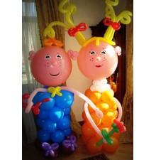 """Фигуры """"Мальчик и Девочка"""" из воздушных шаров"""