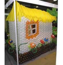 """Фигура """"Дом"""" из воздушных шаров"""