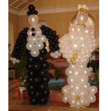 """Фигуры """"Жених и Невеста"""" из воздушных шаров"""