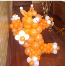 """Фигура """"Кот"""" из воздушных шаров"""