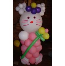 "Фигура ""Hello Kitty"" из воздушных шаров"