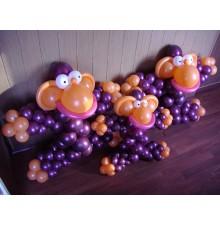 """Фигуры """"Мартышки"""" из воздушных шаров"""