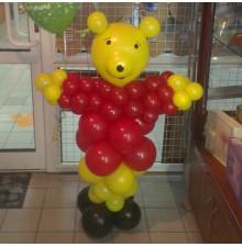 """Фигура """"Медведь"""" из воздушных шаров"""