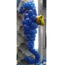 """Фигура """"Морской котик"""" из воздушных шаров"""