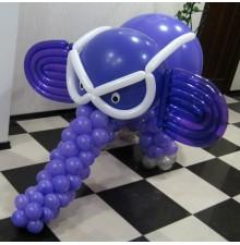 """Фигура """"Слоник"""" из воздушных шаров"""