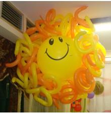 """Фигура """"Солнышко"""" из воздушных шаров"""
