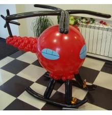 """Фигура """"Вертолет"""" из воздушных шаров"""