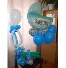 """Фольгированный шар """"Детская коляска"""""""