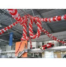 Гирлянда из воздушных шаров с цифрой из шариков