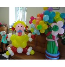 """Фигура из шаров """"Девочка"""" + букет шариков"""