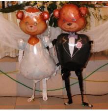 Фольгированные фигуры на свадьбу