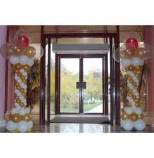 Колоны из шаров на парадный вход