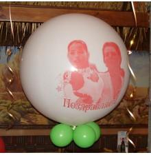 Печать фотографии на шаре