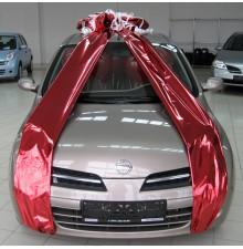 Бант из фольги + гелиевые шарики в салон автомобиля