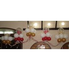 Украшение из шаров и ткани на свадьбу