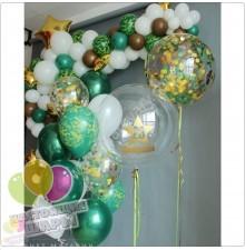 Композиция из воздушных шаров на 23 февраля №2
