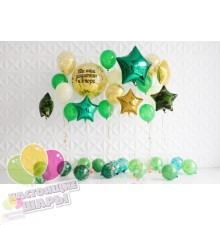 Композиция из воздушных шаров на 23 февраля №4