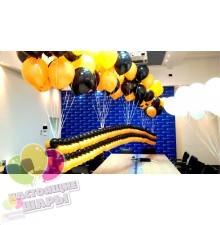 Оформление шарами праздника 9 мая