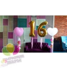 Украшение дня рождения 16лет