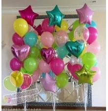 Фонтан из воздушных шаров 8