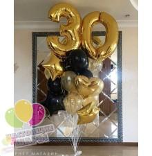 Фонтан из воздушных шаров 10