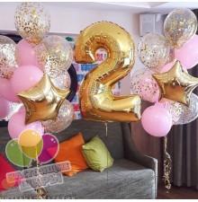 Фонтан из воздушных шаров 24