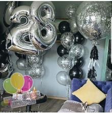 Фонтан из воздушных шаров 25