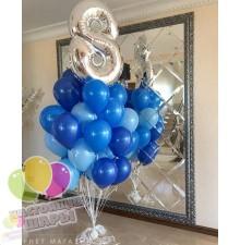 Фонтан из воздушных шаров 27