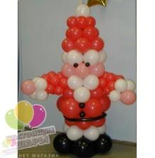 "Фигура ""Дед Мороз"" из шариков"