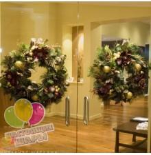 Новогодние ёлочные венки на дверь