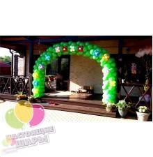 1-но цветная арка из шаров