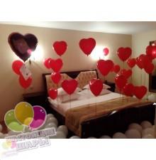 Оформление комнаты на 14 февраля