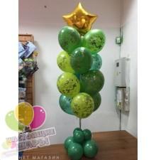 Букет из камуфляжных шаров