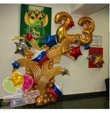 Композиция из воздушных шаров на 23 февраля