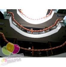 Оформление шарами ТЦ Армада
