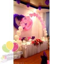 Оформление свадьбы в бело-розово-фиолетовом
