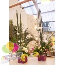 Композиции из цветов на столы гостей