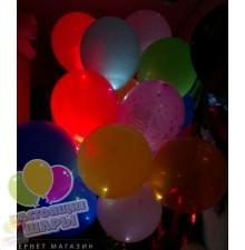 Разноцветные светящиеся воздушные шары с гелием