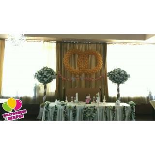Кольца на свадьбу из воздушных шаров