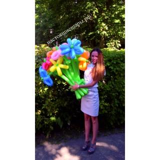 Букет цветочков из шаров