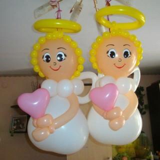 """Фигура """"Ангел"""" из шаров"""