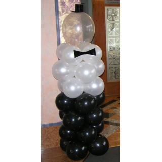 """Фигура """"Джентльмен"""" из воздушных шаров"""