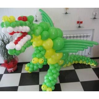 """Фигура """"Дракон"""" из воздушных шаров"""