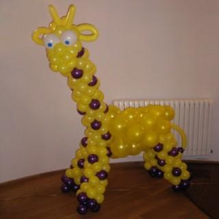 """Фигура """"Жираф"""" из воздушных шаров"""